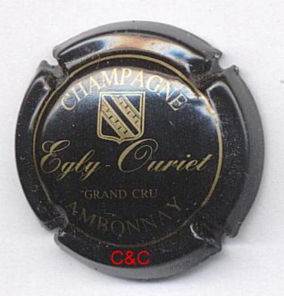 Capsule de champagne LACOUR-COUVREUR 1. vert foncé et or